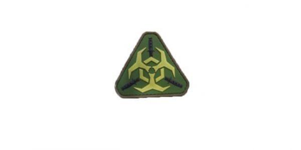 Biohazard triangle morale patch (Olive)
