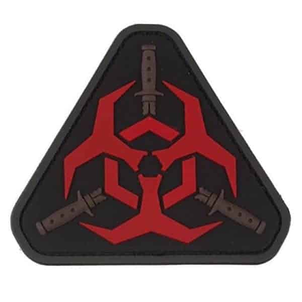 Biohazard triangle morale patch (Red)