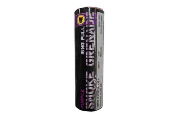black cat purple smoke grenade 1 Black Cat Ring pull smoke grenade (Purple)