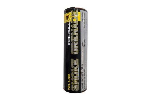 Black Cat Ring pull smoke grenade (Yellow)