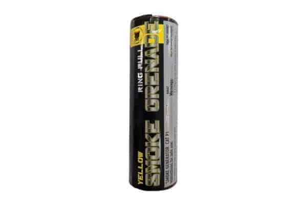 black cat yellow smoke grenade 1 Black Cat Ring pull smoke grenade (Yellow)