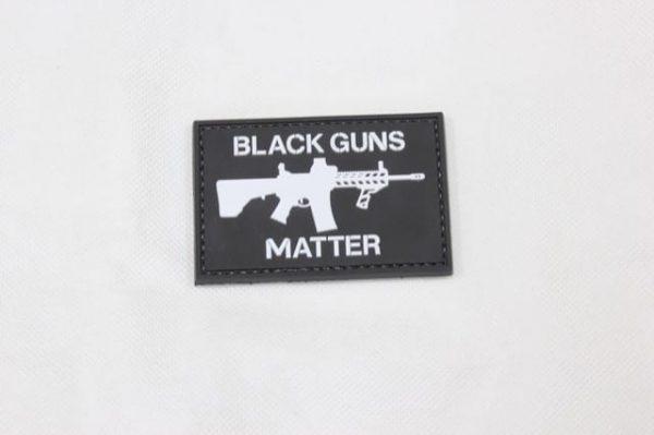 Black guns matter velcro morale patch (Black)