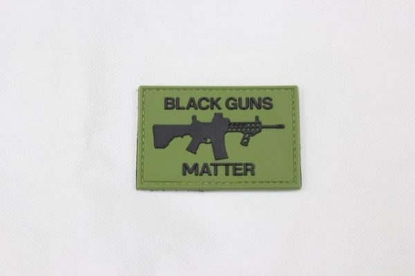Black guns matter velcro morale patch (Green)