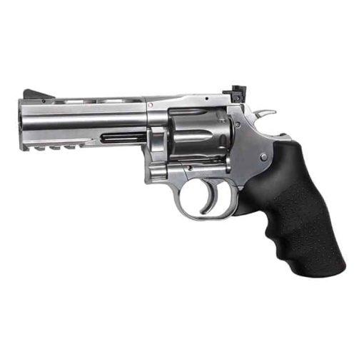 "ASG Dan Wesson 715 - 4"" Revolver, Silver Low Power"