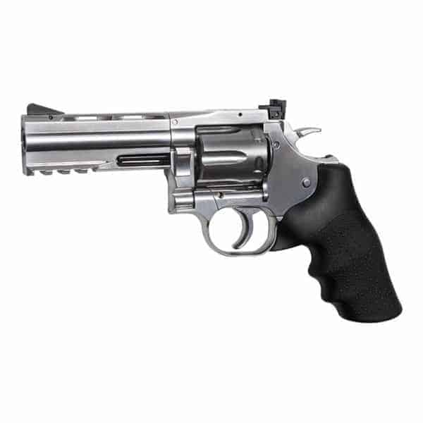"dan wesson 4 inch revolver ASG Dan Wesson 715 - 4"" Revolver, Silver Low Power"