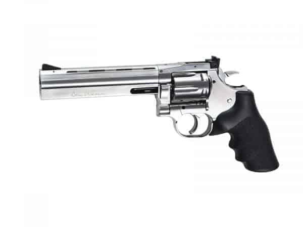 "ASG Dan Wesson 715 - 6"" Revolver, Silver Low Power"
