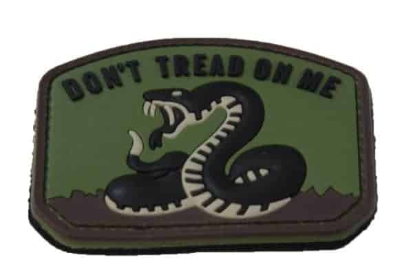 Don't Tread On Me snake morale patch (Green)