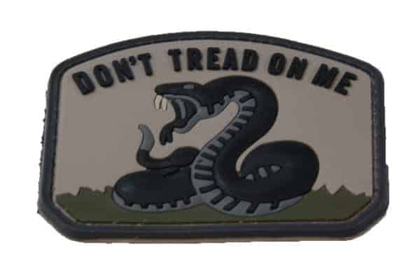 Don't Tread On Me snake morale patch (Tan)