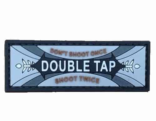 Double tap chewing gum logo morale patch (Black)