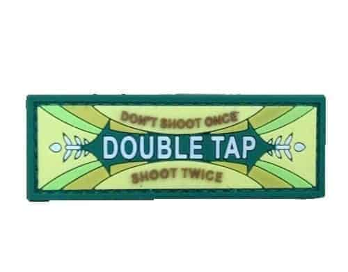 Double tap chewing gum logo morale patch (Green)