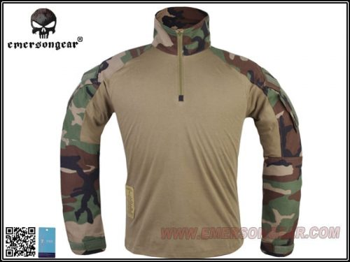 emerson gear combat shirt woodland 1 Emerson Gear G3 Combat Shirt - Woodland