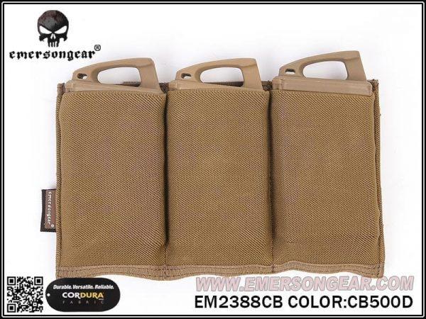 emerson gear triple magazine pouch eleastic coyote 1 Emerson Gear Triple Elastic Magazine Pouch