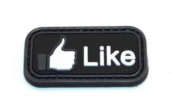 Facebook 'Like' thumbs up morale patch (Black)