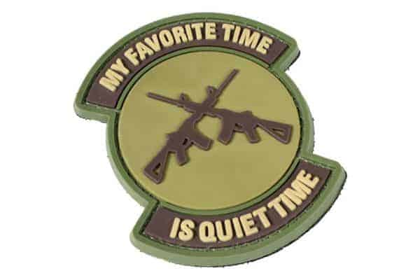 My favourite time is quiet time patch (Coyote)
