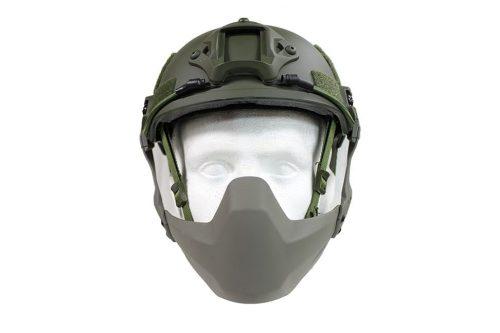 fma half seal helmet mask od n 1 FMA Half Seal Helmet mask (folding) -  FG Green Type B