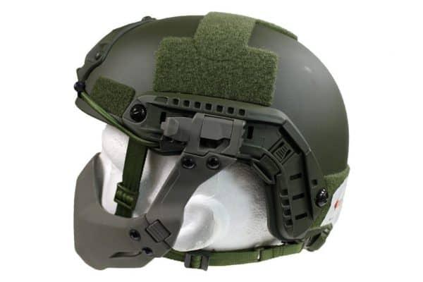 fma half seal helmet mask od typeb 2 FMA Half Seal Helmet mask (folding) -  FG Green Type B