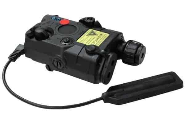FMA PEQ LA5  LED White Light + Red Laser With IR Black