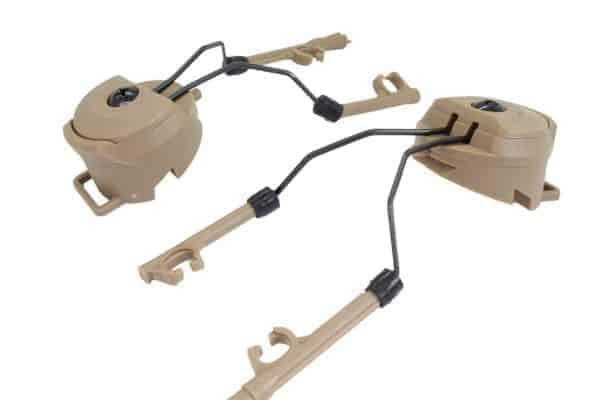 FMA PT Headset and Helmet Rail Adapter Set - Tan