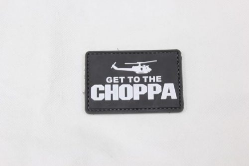 Get to the choppa velcro morale patch (Black)