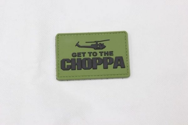 Get to the choppa velcro morale patch (Green)