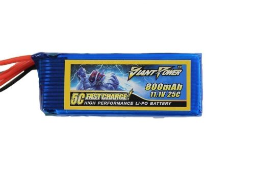Giant Power 11.1v 800MAH 25C LiPo battery