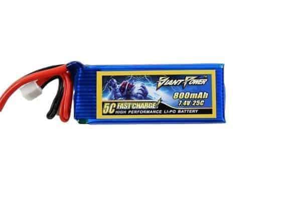 Giant Power 7.4v 800MAH 25C LiPo battery