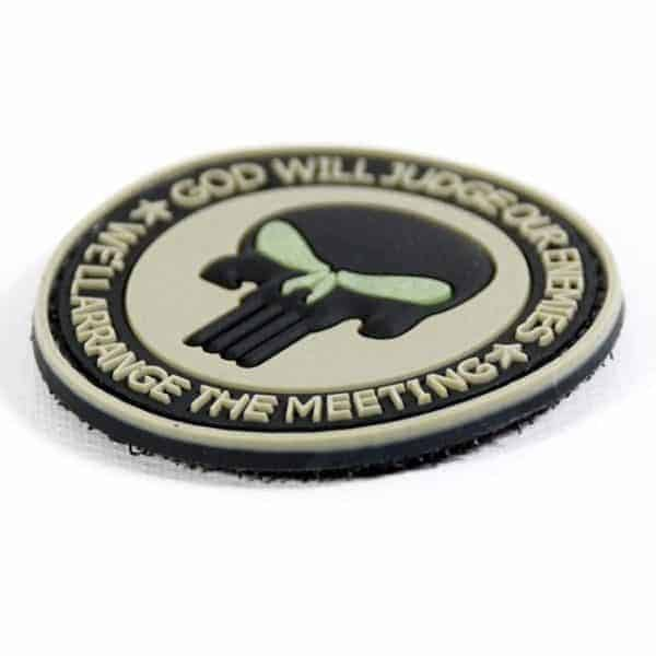 God will judge our enemies punisher patch (Tan)