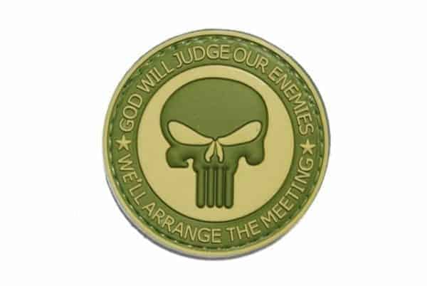 God will judge our enemies punisher patch (Green)