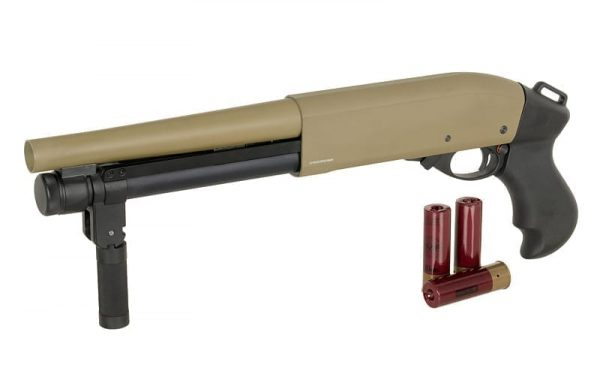 Golden Eagle M870 Super Shorty Gas Shotgun M8870 - Tan
