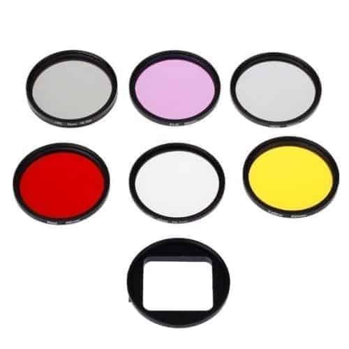 GoPro HERO4/ 3+ 6 in 1 coloured lens kits