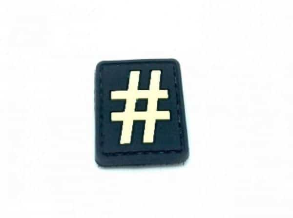 hashtag patch black Hashtag '#' small patch white