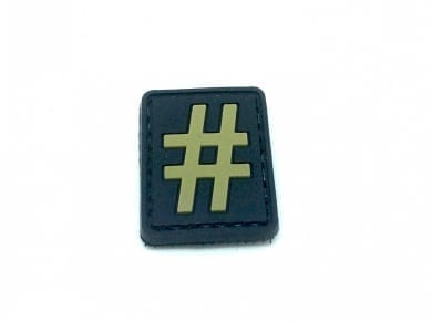 Hashtag '#' small patch (Tan)