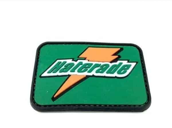 Haterade orange/green morale patch