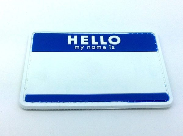 Hello, My Name Is... patch (Blue)