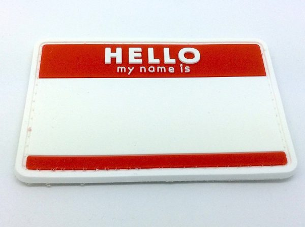 Hello, My Name Is... patch (Red)