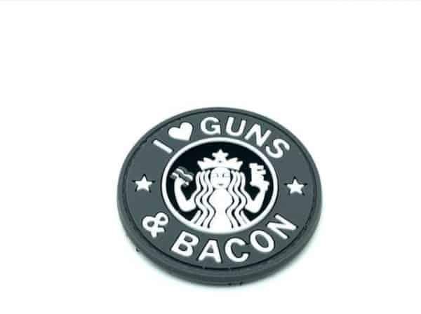 I <3 Guns & Bacon morale patch (Black)