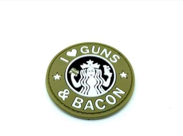 I <3 Guns & Bacon morale patch (Coyote)