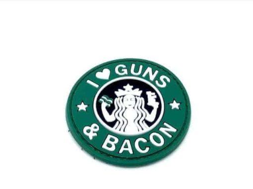 I <3 Guns & Bacon morale patch (Green)