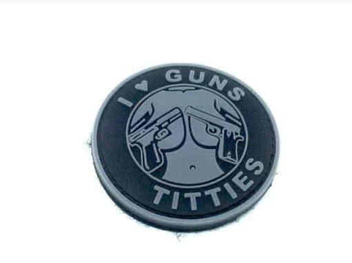 I <3 Guns & Titties morale patch (Black)