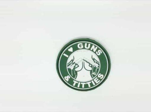 I <3 Guns & Titties morale patch (Green)