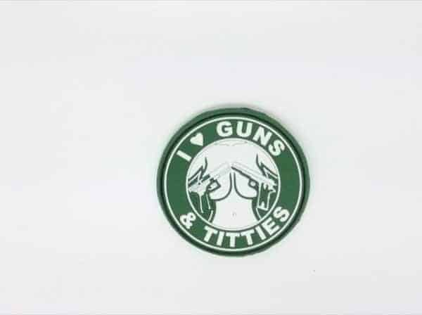 i love guns and titties morale patch green I <3 Guns & Titties morale patch (Green)