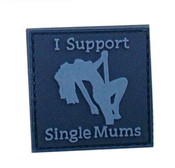 I support single mum morale patch (Black)