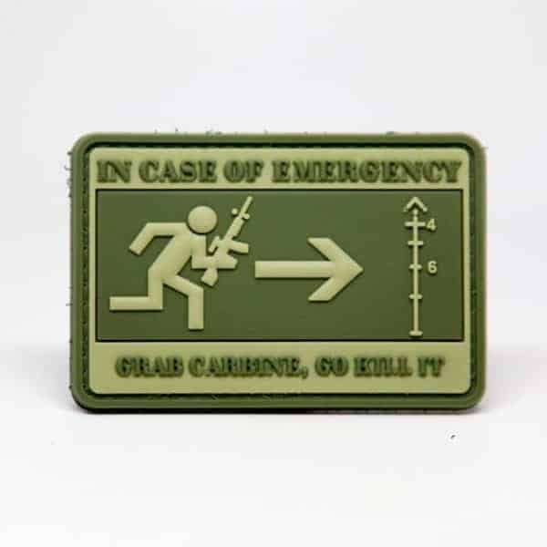 in case of emergency grab carbine patch In Case Of Emergency, Grab Carbine, Go Kill It patch