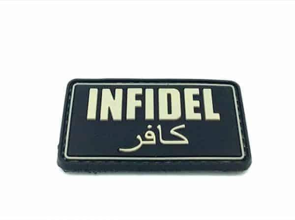 'Infidel' arabic morale patch (Black)