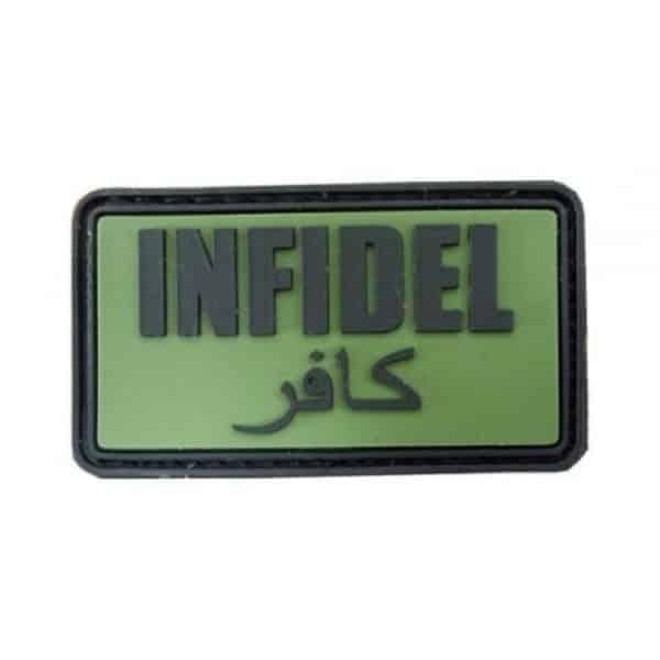 'Infidel' arabic morale patch (Green)