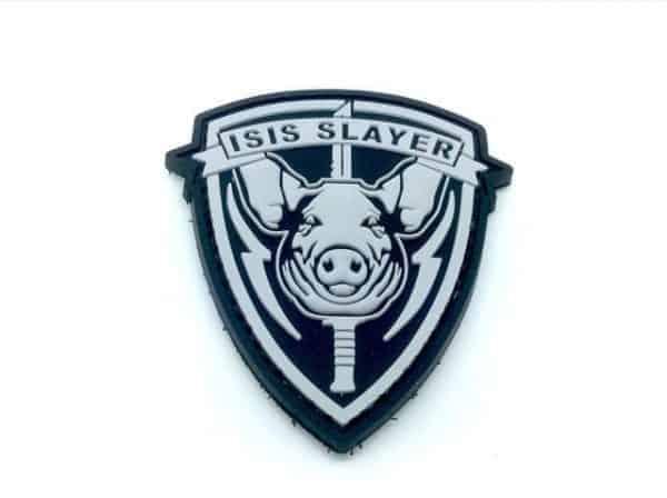 ISIS Pig Slayer pig morale patch (Black)