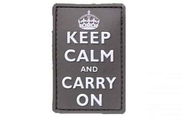 Keep Calm and Carry On patch (Black)
