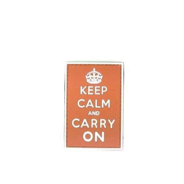 Keep Calm and Carry On patch (Orange)