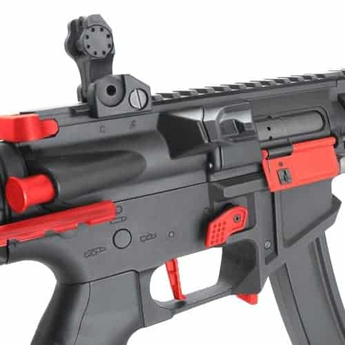 King Arms PDW 9mm SBR SD - Black & Red
