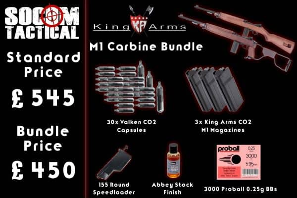 Airsoft King Arms M1 Carbine Bundle
